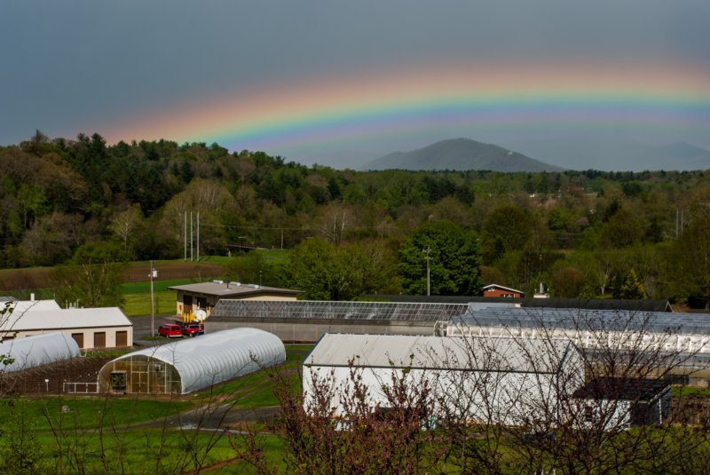 Rainbow over the lab
