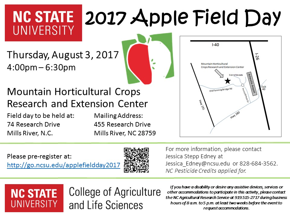 forestry field day 2017 apple field day august 3 nc state extension
