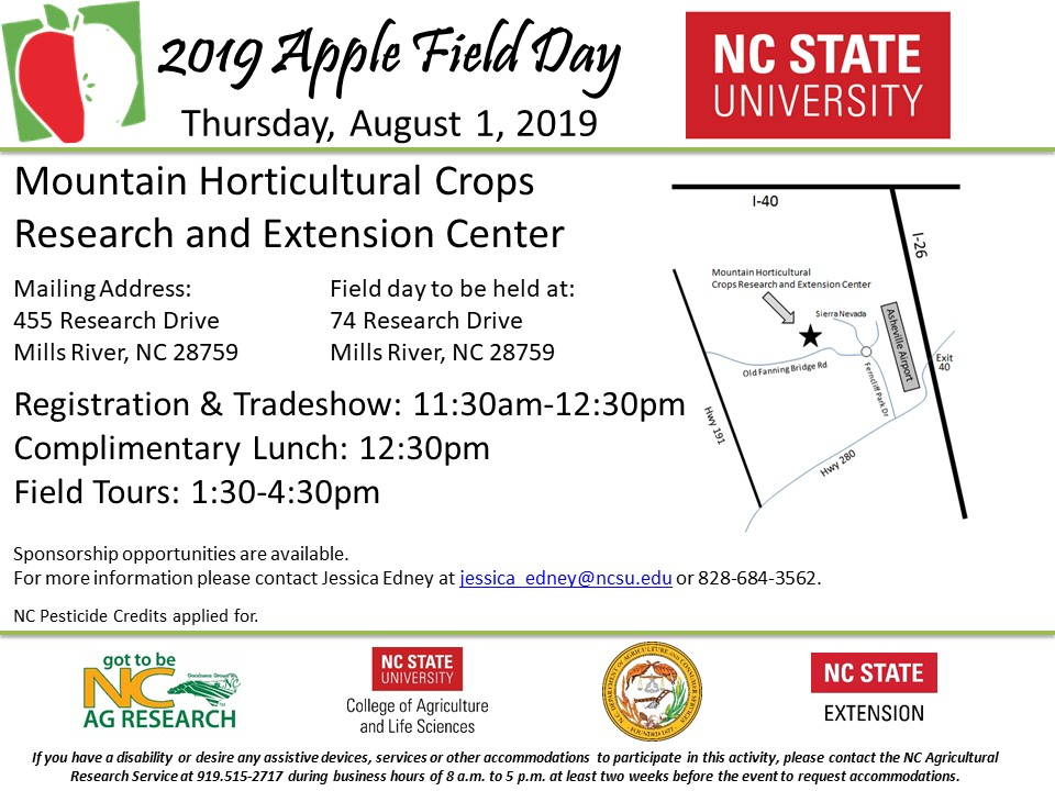 2019 MHCREC Apple Field Day Flyer