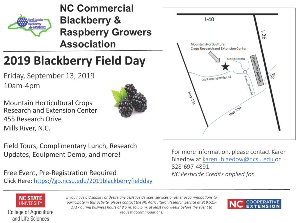 2019 blackberry field day flyer