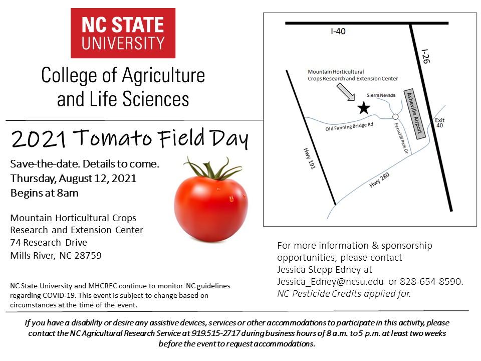 2021 Tomato field day announcement