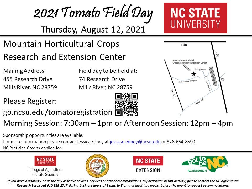 2021 Tomato Field Day MHCREC flyer